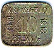 10 pfennig 1918 Sprottau (Stadt - Schlesien) – revers