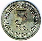 5 pfennig 1920 Spremberg (Brandenburg) – avers