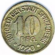 10 pfennig Spremberg (Brandenburg) – avers