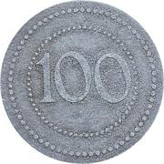 100 Pfennig - Danzig Camp de prisionners – revers
