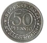 50 Pfennig (Regensburg) [Strassenbahn, Bayern] – revers
