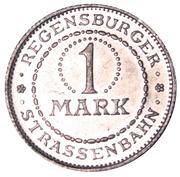 1 Mark (Regensburg) [Strassenbahn, Bayern] – revers