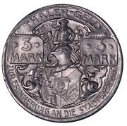 3 Mark (Thale am Harz) [Gemeinde, Provinz Sachsen] – revers