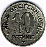 10 pfennig Greifenhagen – avers