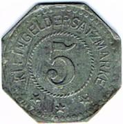 5 Pfennig (Montabaur) [Stadt, Hessen-Nassau] – revers