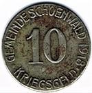 10 pfennig 1918 Schönwald – avers