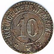 10 pfennig 1722 Schwerin – revers