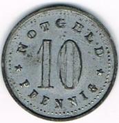 10 pfennig Schrobenhausen – revers