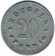 20 pfennig Schrobenhausen – revers