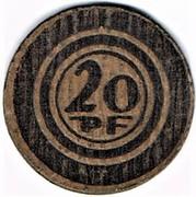 20 pfennig Halle – revers