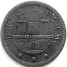 10 Pfennig Burg auf Fehmarn – avers
