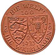 100 Mark (Waiblingen)[Baden] – avers