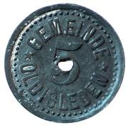 5 Pfennig (Oldisleben) [Gemeinde, Sachsen-Weimar-Eisenach] – avers