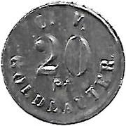 20 Pfennig (Goldlauter) [Private, Provinz Sachsen, Consumverein] – avers