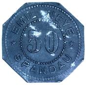 50 Pfennig (Spandau) Stadt, Berlin – avers