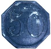 50 Pfennig (Spandau) Stadt, Berlin – revers