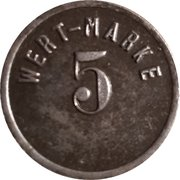 5  Pfennig (Lichtenau/Zareba) [Private, Schlesien, Act.Ges. Glück Auf] – revers