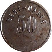 50 Pfennig (Lichtenau/Zareba) [Private, Schlesien, Act.Ges. Glück Auf] – revers