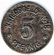 5 pfennig 1918 Oels (Kaufmännischer Verein – revers