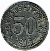 50 pfennig 1918 Neuhaus A. rennweg – avers