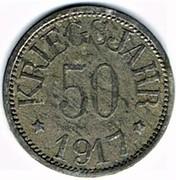 50 pfennig 1917 Rehau – revers