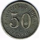 50 pfennig Neheim – revers