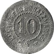 10 Pfennig (Braubach) [Private, Hessen-Nassau, Blei- & Silberhütte Braubach] – avers