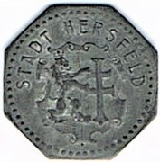 1 pfennig Hersfeld – avers