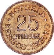 25 Pfennig (Osterburg) – avers