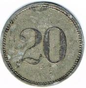 20 pfennig Oettingen – revers