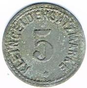 5 pfennig Zabern – revers
