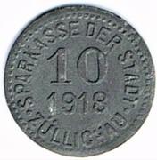 10 pfennig Züllichau – avers