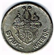 5 pfennig Ratibor – avers