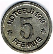 5 pfennig Ratibor – revers