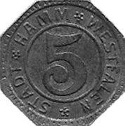 5 Pfennig (Hamm)[Stadt, Westfalen] – avers