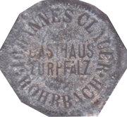 10 Pfennig (Rohrbach) [Private, Bayern, Gasthaus Zurpfalz] – avers