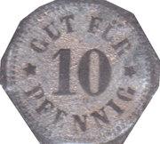 10 Pfennig (Rohrbach) [Private, Bayern, Gasthaus Zurpfalz] – revers
