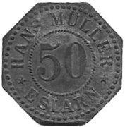 50 Pfennig(Eslarn, Hans Muller, private issue)[Stadt Bayern] – avers