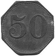 50 Pfennig(Eslarn, Hans Muller, private issue)[Stadt Bayern] – revers