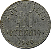 10 Pfennig (Hebertsfelden) [Private, Lothringen, Bayern, Franz Paul Gramsamer] – revers