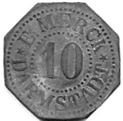 10 Pfennig (Darmstadt)[E. Merck, Private Issue] – avers