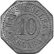 10 Pfennig (Eslarn, Hans Muller private issue)[Stadt, Bayern] – avers