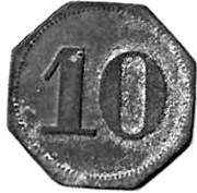 10 Pfennig (Eslarn, Hans Muller private issue)[Stadt, Bayern] – revers
