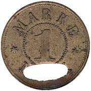 1 Mark (Schwäbisch Gmünd) [Private, Württemberg, Konsumverein] – revers