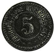 5 Pfennig (Meuselwitz) [Private, Saxe-Altenburg, Prehlitzgrube] – avers