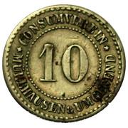 10 Pfennig (Mühlhausen) [Private, Provinz Sachsen, Consumverein] – avers