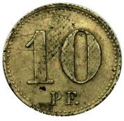 10 Pfennig (Mühlhausen) [Private, Provinz Sachsen, Consumverein] – revers