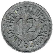 Notgeld - 12 Pfennig - Otto Schenk - Wert Marke – avers