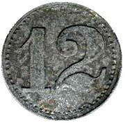 Notgeld - 12 Pfennig - Otto Schenk - Wert Marke – revers