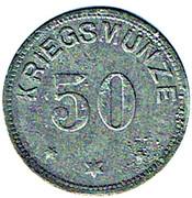 50 pfennig Höchstädt a. D. – revers